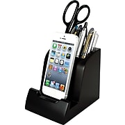 """Victor Technology Smart Charge Lightning Dock™ with Pencil Cup, Black, 4 8/10""""H x 4 3/10""""W x 3 8/10""""D"""
