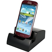 """Victor Technology Smart Charge Micro USB Dock™, Black, 4 8/10""""H x 3 8/10""""W x 2""""D"""
