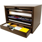 Victor® Wood Desktop Organizer, Mocha Brown