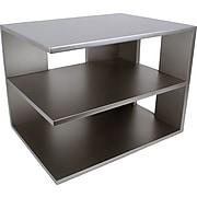 Victor Technology Wood Desk Accessories, Corner Shelf, Classic Silver