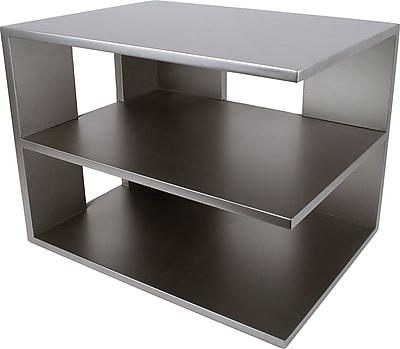 Victor® Wood Desk Accessories Corner Shelf, Classic Silver