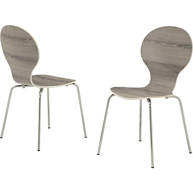 Monarch Casual/Kitchen Dining Chairs, Wood/Metal, Dark Taupe