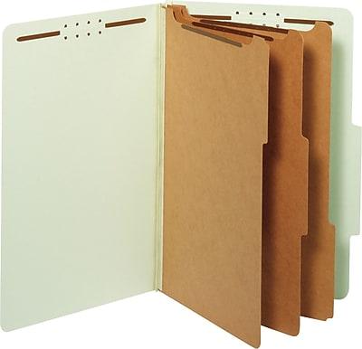 Globe-Weis® Classification Folders, 2/5-Cut Top Tab, 3 Dividers, 10/Box (29091)