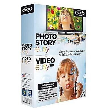 MAGIX – PhotoStory easy et Vido easy HD pour Windows (1 utilisateur) [Téléchargement]