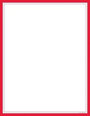 Great Papers® Red Border Letterhead, 80/Pack