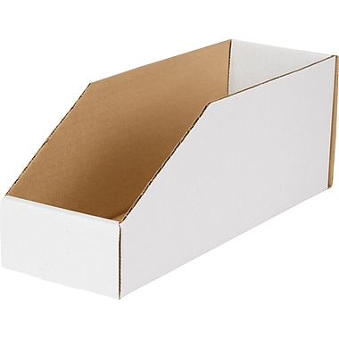 Boîte de rangement, 12 po x 4 po x 4,5 po, 50/lot