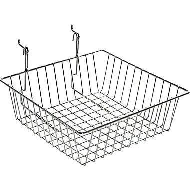 Azar Displays Wire Basket, Chrome, 4 1/4