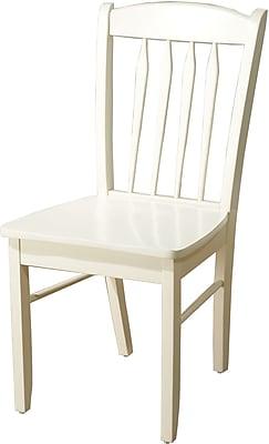 TMS Savannah Rubberwood Side Chair, Antique White