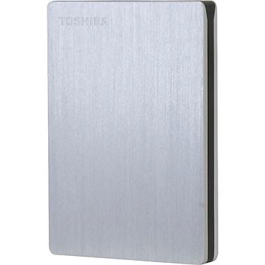 Toshiba Canvio Slim II 1TB Portable USB 3.0/2.0 External Hard Drive, Silver (HDTD210XS3E1)