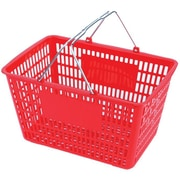 "Wire Handle Hand Shopping Baskets, 10"" H. x 18-1/2"" W. x 13"" D."