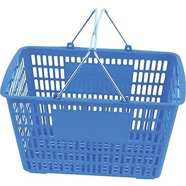 Panier d'achat avec poignée de fil, 10 haut. x 18 1/2 larg. x 13 prof. (po), bleu