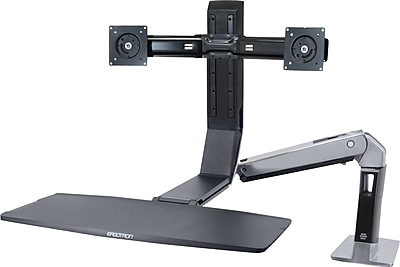 Ergotron WorkFit-A 24-312-026 Dual Sit-Stand Workstation for 24