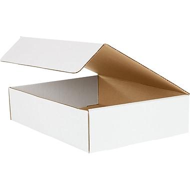 Boîtes d'expédition pour documentation, 12 1/8 po x 9 1/4 po x 3 po, blanc, 50/lot