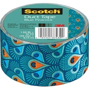 "Scotch® Brand Duct Tape, Blue Peacock, 1.88"" x 10 Yards"
