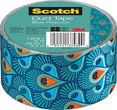 Scotch® Brand Duct Tape, Blue Peacock, 1.88