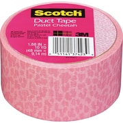 "Scotch® Brand Duct Tape, Pastel Cheetah, 1.88"" x 10 Yards"