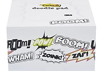 Post-it® Printed Notes Cartoon Design Doodle Pad, 4' x 4', White, 450 Sheets