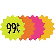 """Die Cut Paper Signs, 4"""" Round, Assorted Colors, Pack of 60 Each (090249)"""