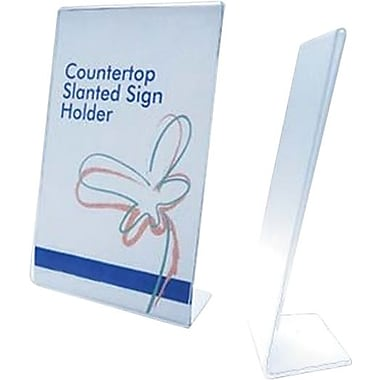 Slanted Acrylic Sign Holders, 8-1/2