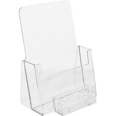 Présentoir de comptoir en acrylique pour brochures pliées en deux