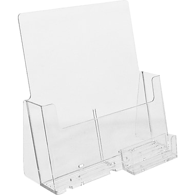 Acrylic Brochure Holders, Full Page Countertop, 5/Pack