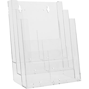 Acrylic Brochure Holders, 3 Tier Full Page Countertop