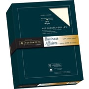 "Southworth® 25% Cotton Business Paper, 24 lb, 8-1/2"" x 11"", Ivory, 400/Pack"