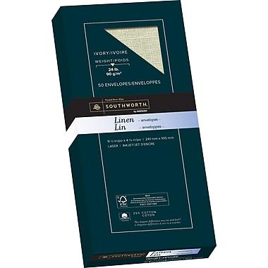 Southworth® – Papier commercial en coton 25 % n° 10, 24 lb, 4 1/8 po x 9 1/2