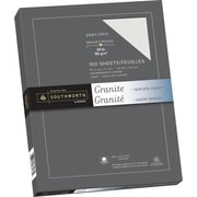 "Southworth® 25% Cotton Granite Paper, 24 lb, 8 1/2"" x 11"", Grey, 100/Pack"