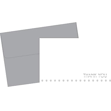 Great Papers® Silver Foil Lotsa Dots Thank You Cards, 24/Pack