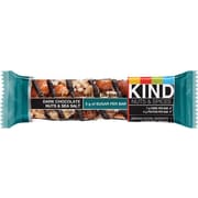 KIND® – Barres de collation Nuts & Spices, chocolat noir, noix et sel de mer, 40 g, bte/12 barres