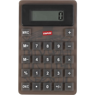 Staples Flexible Calculator, Black