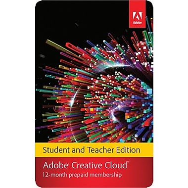 Adobe Creative Cloud for Windows/Mac,1-Year Student & Teacher Subscription (1-User) [Download]