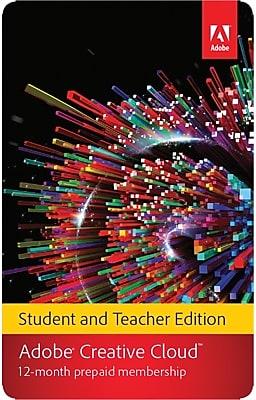 Adobe Creative Cloud for Windows/Mac (1-User) [Download, 1-Year Student & Teacher Subscription]