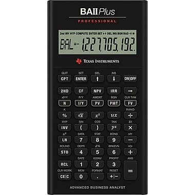 Texas Instruments BA II Plus Pro Business Calculator