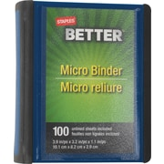 Staples Better 1-Inch Round-Ring Micro View Binder, Blue (26230)