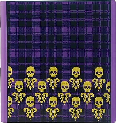 Teen Vogue Better Plaid Skull 1-Inch Round 3-Ring Binder, Plaid Skulls (26243)