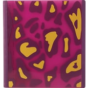 Teen Vogue Better 1-Inch D 3-Ring Binder, Pink/Yellow, Pink / Yellow Animal (26241)