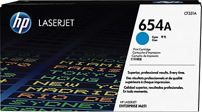 HP 654A ColorSphere Cyan Toner Cartridge (CF331A)