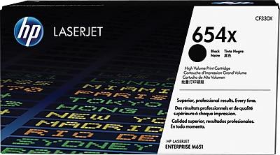 HP 654X ColorSphere Black Toner Cartridge (CF330X), High Yield