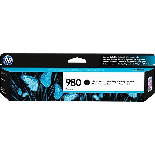 HP 980 Black Ink Cartridge, Standard (D8J10A)