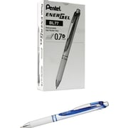 Pentel EnerGel Pearl Deluxe RTX Liquid Gel Ink Retractable Pens, Medium Point, Blue, Dozen (BL77PW-C)