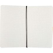 "Moleskine Large Notebook, 5"" x 8.25"", Quad Ruled, 96 Sheets, Black (QP617F)"
