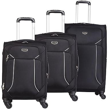 Bugatti – Ensemble de 3 valises souples, noir