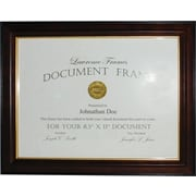 "Walnut and Black Wood 8 1/2"" x 11"" Picture Frame - Gold Line"