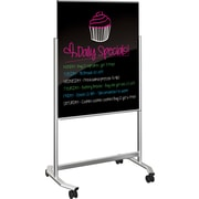 Visionary Mobile Black Glass Whiteboard