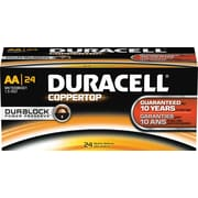 Duracell® Coppertop Alkaline AA, 24/Pack