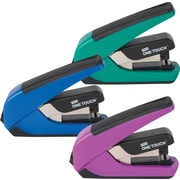 Staples® - Agrafeuse compacte à plat One-Touch™ Plus pour le bureau, capacité de 20 feuilles, couleurs variées
