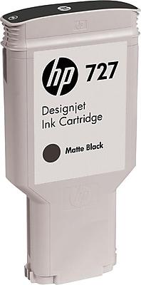 HP 727 Matte Black Ink Cartridge (C1Q12A), 300-ml