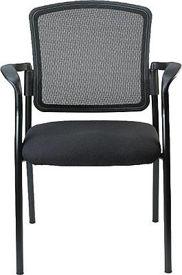 Raynor Eurotech Dakota 2 Steel Guest Chair, Black (7011-BLK)